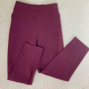 Burgundy Straight Leg Formal Pants Size 8